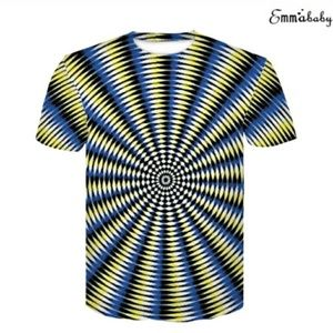 "Other - Unisex ""Hypnosis "" Optical Illusion Shirt"